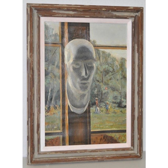 "Stephen Etnier (American, 1903-1984) ""Studio Window"" Original Oil Painting C.1932 For Sale - Image 10 of 10"