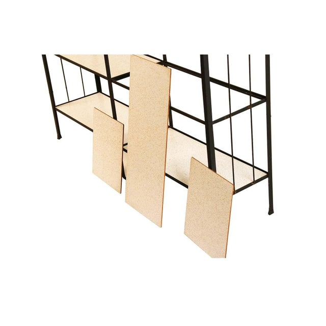 Metal Mid-Century Fredrick Weinberg Iron Étagère Shelving Unit For Sale - Image 7 of 12