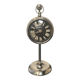 Chrome Hanging Pocket Watch Clock For Sale