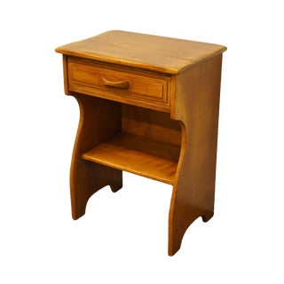 "Cushman Colonial Bennington, Vt Solid Hard Rock Maple Colonial Style 20"" Nightstand 2069 For Sale"
