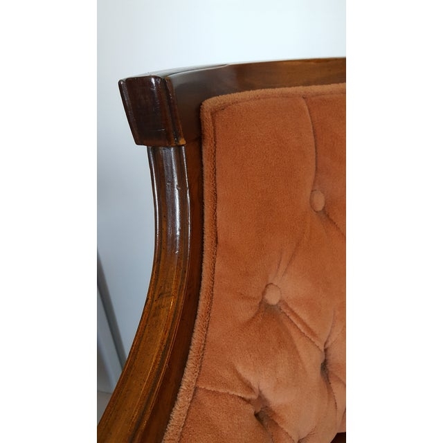 Wood Mid-Century Neoclassical Revival Arm Chairs - a Pair For Sale - Image 7 of 10