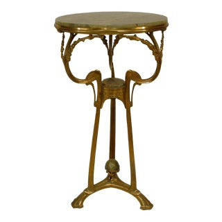 French Art Nouveau Ormolu Gueridon End Table For Sale