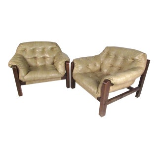 Percival Lafer Style Club Chairs - A Pair