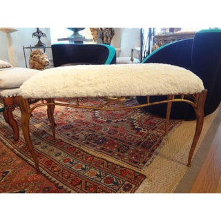 1960s Vintage Italian Gilt Metal Benches- a Pair Preview