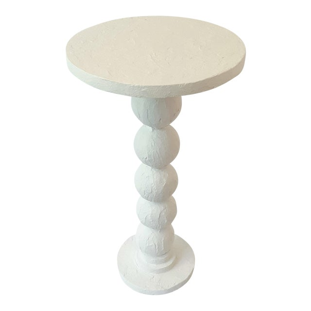 Modern Artisan Carnival White Accent Table For Sale