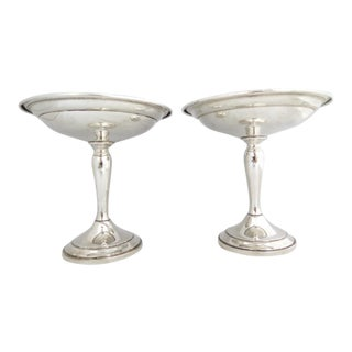 Gorham Sterling Compote/Raised Candy Dishes - a Pair For Sale