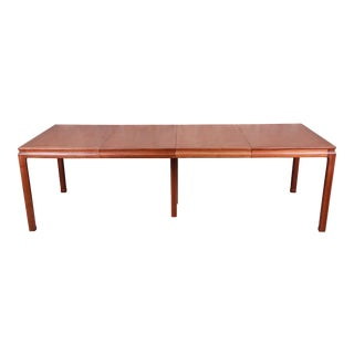 Edward Wormley for Dunbar Janus Collection Walnut Extension Dining Table, Newly Restored For Sale