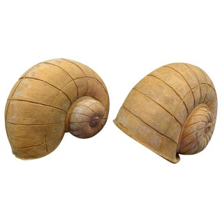Terracotta Snail-form Garden Ornaments For Sale