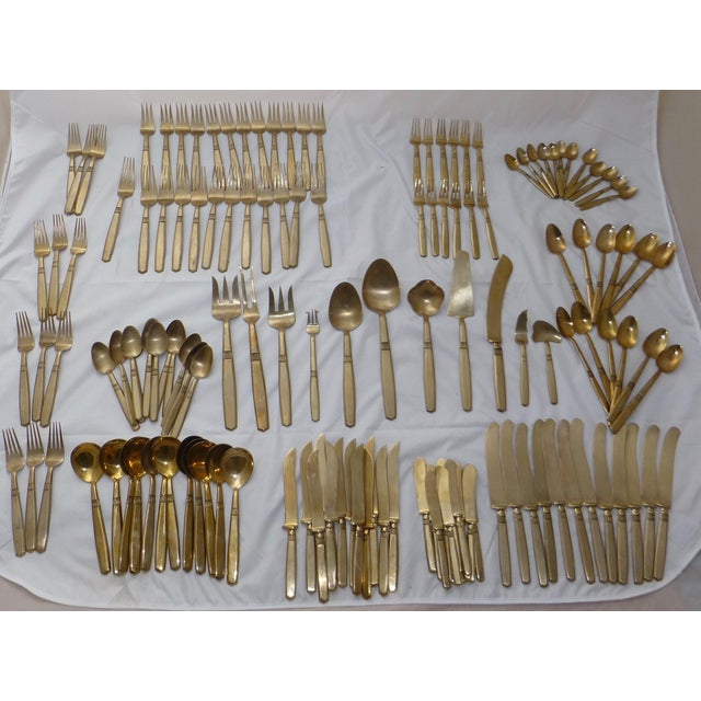 Mid-Century Modern Flatware Service for 12 - Image 11 of 11