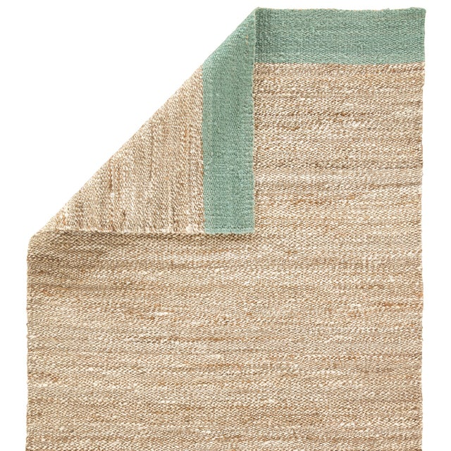 Jaipur Living Mallow Natural Bordered Tan/ Blue Area Rug - 8′ × 10′ For Sale - Image 4 of 6