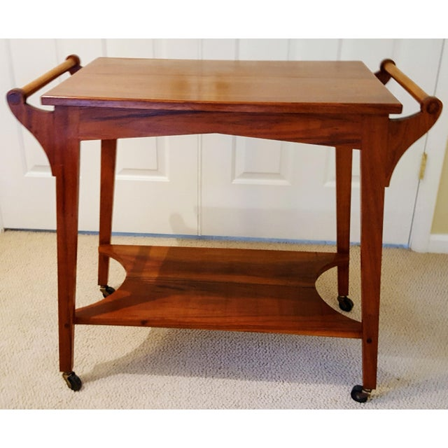 Mid-Century Teak Serving Cart - Image 6 of 6