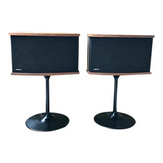 Vintage Bose 901 Series V Speakers With Metal Tulip Stands APair