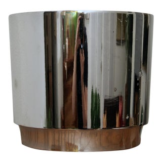 Chrome Gainey Style Midcentury Modern Planter