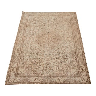"Vintage Turkish Hand Knotted Rug - 9'10"" x 6'4"" For Sale"