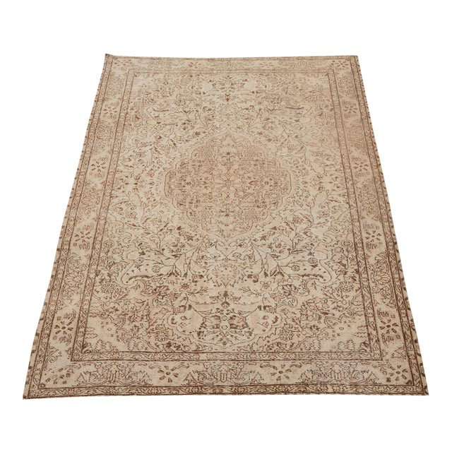 """Vintage Turkish Hand Knotted Rug - 9'10"""" x 6'4"""" - Image 1 of 5"""