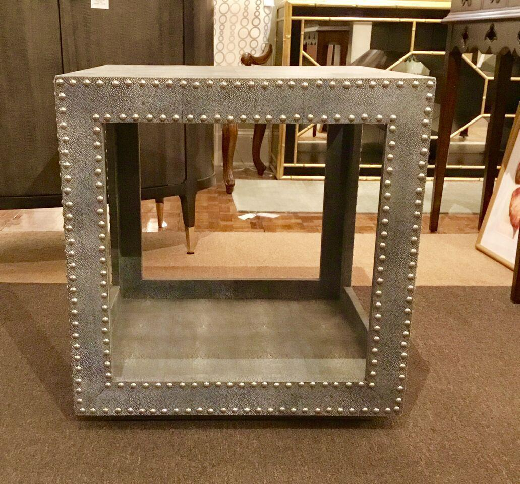 Regina Andrews Feaux Python Studded Accent Cube Table   Image 3 Of 9