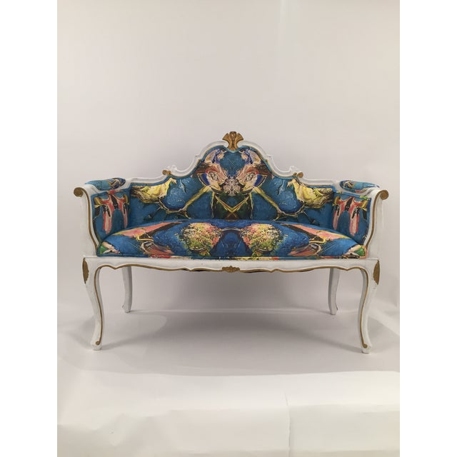 Antique French Louis XV Style Restored Settee - Image 2 of 11