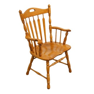 Late 20th Century Vintage Thomasville Furniture Tell City Hard Rock Dining Chair For Sale