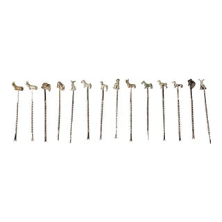 Vintage Dog Cocktail Picks - Set of 14 For Sale