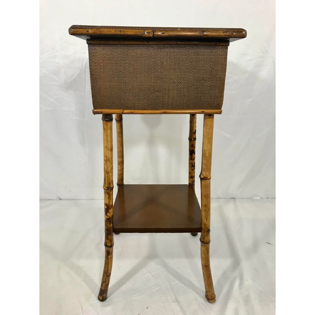 Late 19th Century English 19th Century Bamboo Sewing Table For Sale - Image 5 of 9