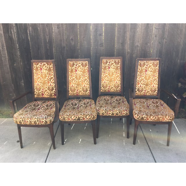 Wooden Frame Vintage Dining Chairs - Set of 4 - Image 2 of 8