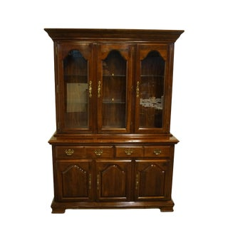 Kincaid Furniture Solid Cherry Traditional Style China Cabinet For Sale