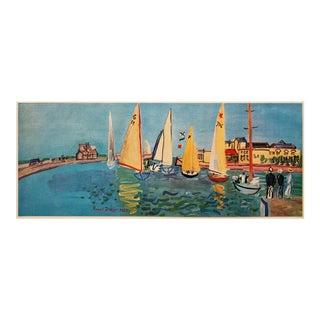 "1940s Raoul Dufy ""Deauville Regatta"", First Edition Period Swiss Lithograph For Sale"