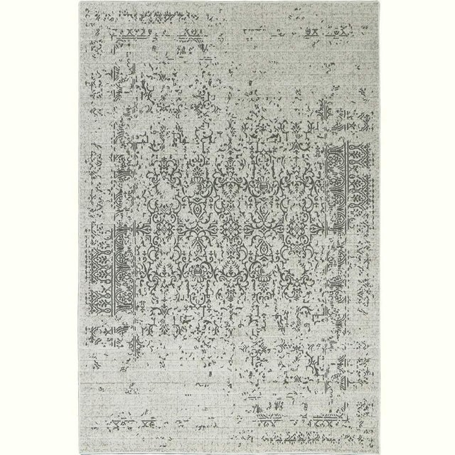 "Distressed Turkish Gray Rug - 8' x 10'7"" - Image 2 of 5"