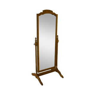 Ethan Allen Traditional Solid Maple Cheval Mirror