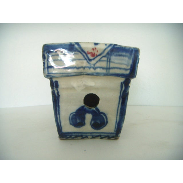 Asian Vintage Chinese Porcelain Head Rest/Opium Pillow, Blue and White For Sale - Image 3 of 7