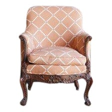 Early 20th Century Antique French Carved Upholstered Chair For Sale