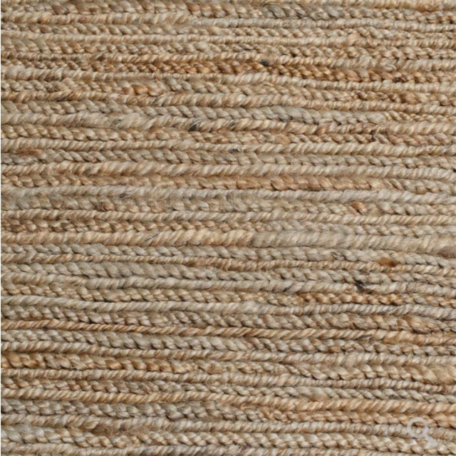 Contemporary Soumak Jute Natural Rug - 5 X 8 For Sale - Image 3 of 5