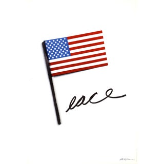 Stanley Eisenman, Peace With American Flag, Poster For Sale