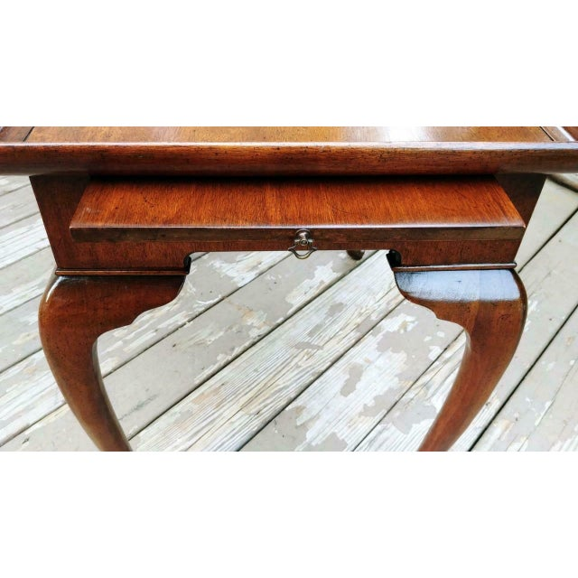 Vintage Traditional Brandt Mahogany Tea Table For Sale - Image 9 of 13