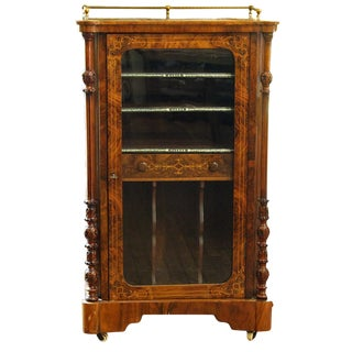 C. 1870 English Music Cabinet For Sale
