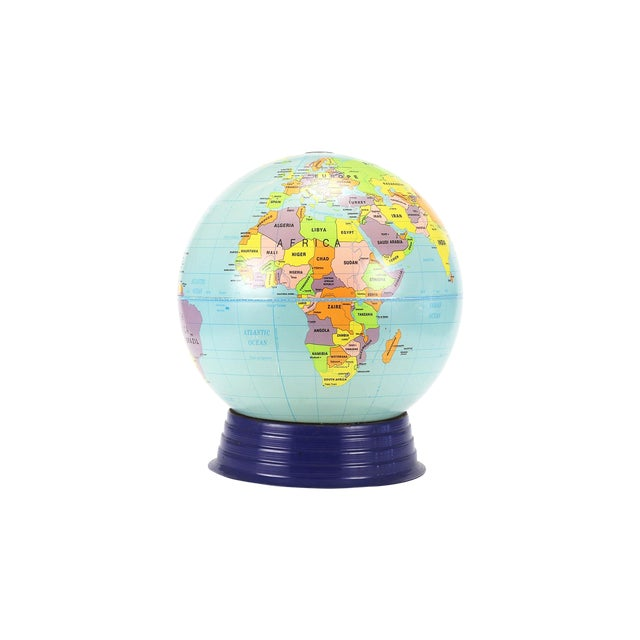 Vintage Large Simplified Cram's World Globe For Sale