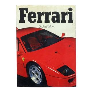 "1989 ""Ferrari"" by Godfrey Eaton Coffee Table Display Book For Sale"