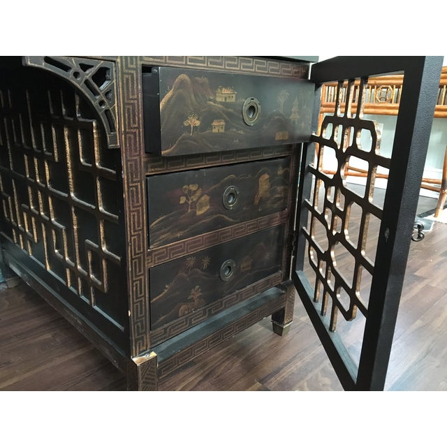 Drexel Heritage Mandalay Asian Chinoiserie Desk - Image 8 of 11