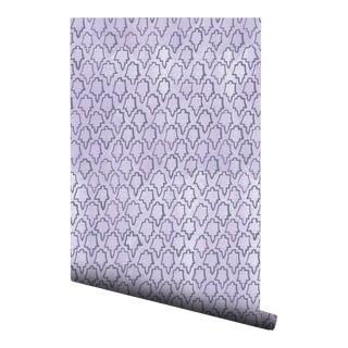 Boho Chic Lavender Geometric Tile Pre-Pasted Wallpaper - 2 Piece Set For Sale