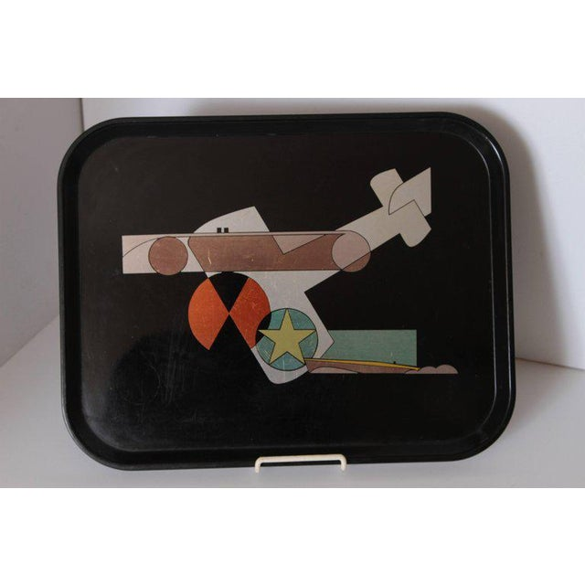 1930s Machine Age Art Deco Micarta Tray Set by George Switzer for Westinghouse For Sale - Image 5 of 11