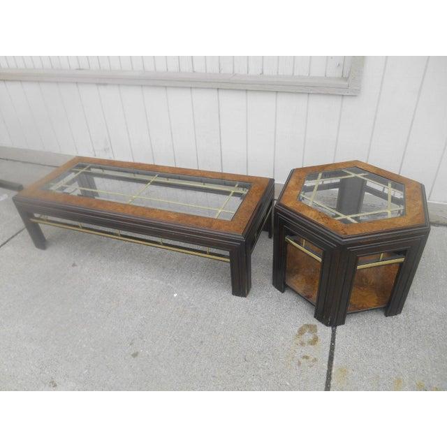 Milo Baughman Mid-Century Modern Milo Baughman Style Coffee/ End Table Set - 2 Pc. For Sale - Image 4 of 11