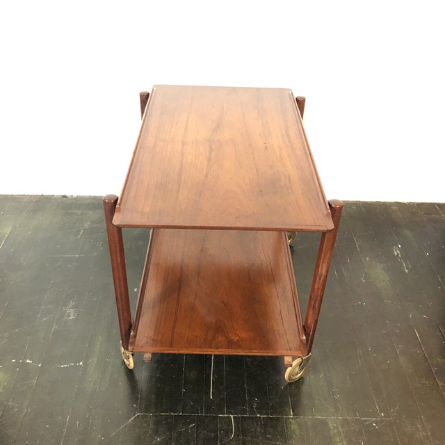 Wood 1960s Danish Teak Expanding Server/Bar Cart For Sale - Image 7 of 13