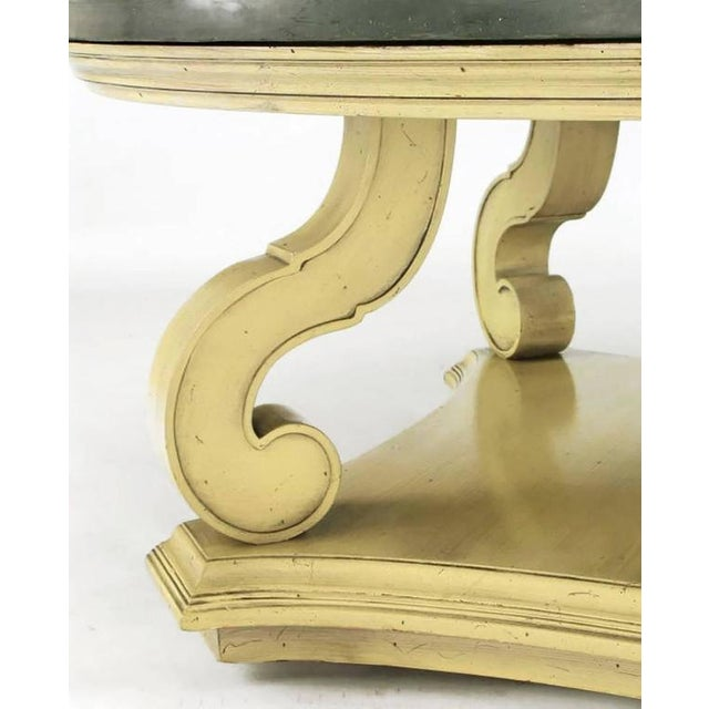 Dorothy Draper Espana Collection Ivory & Slate Coffee Table - Image 5 of 8