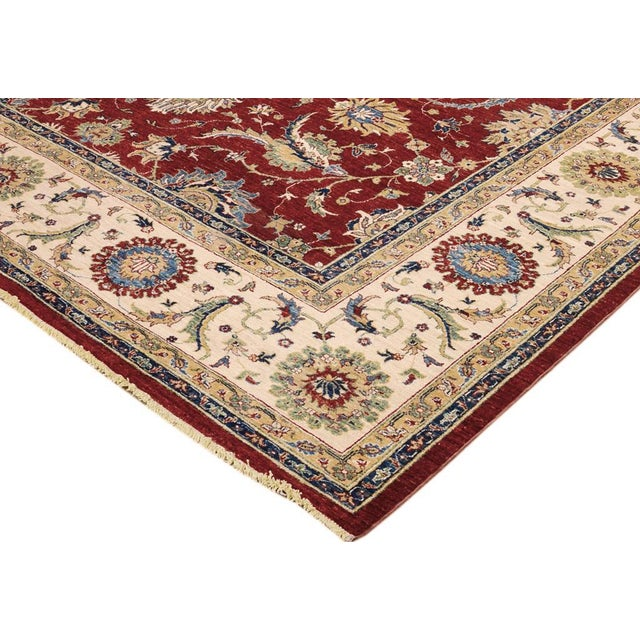 Give your home interior a luxurious make over with this majestic rug, hand knotted by skilled craftsmen with the finest...