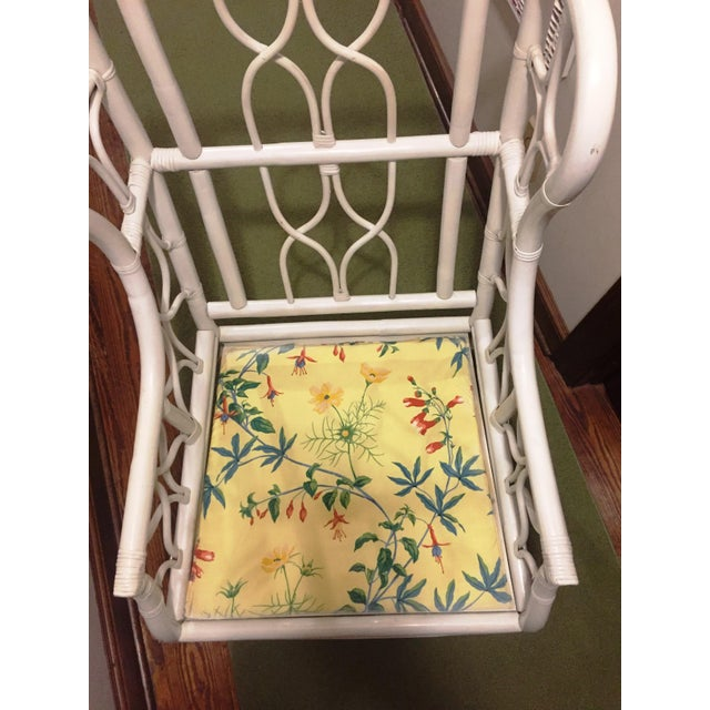 Mid 20th Century Ficks Reed Chinoiserie Wing Chair For Sale - Image 5 of 8