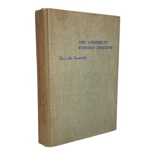 "1956 ""Amy Vanderbilt's Everyday Etiquette"" First Edition Book For Sale"