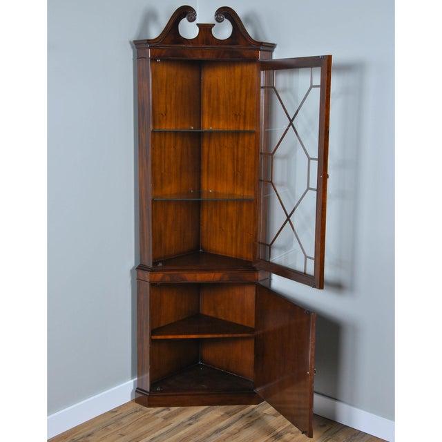 Niagara Furniture Mahogany Corner Cabinet For Sale - Image 4 of 8