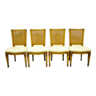 Karges Italian French Provincial Cane Back Fruitwood Side Chairs- Set of 4 For Sale