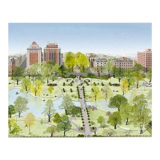 """Boston Public Garden"" Giclée Art Print by Felix Doolittle - 8x10 For Sale"