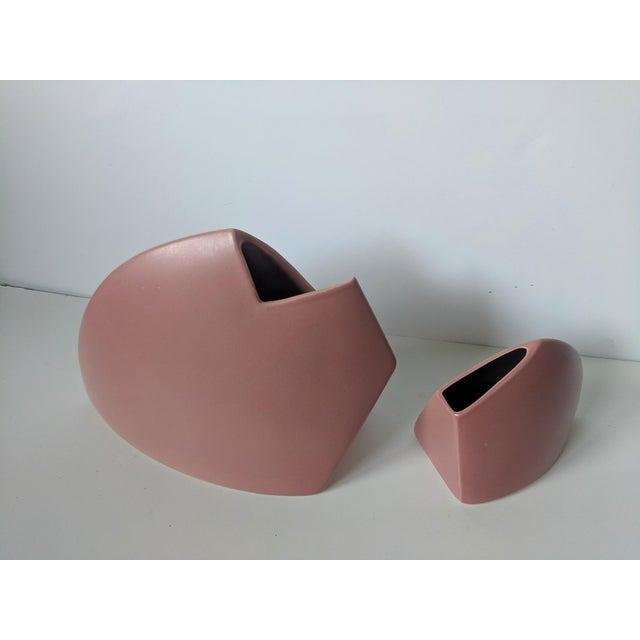 Abstract Set of 2- 1980s Modernist J Johnston Sculptural Vessels For Sale - Image 3 of 12